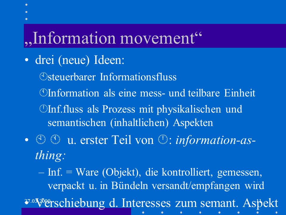 """Information movement"