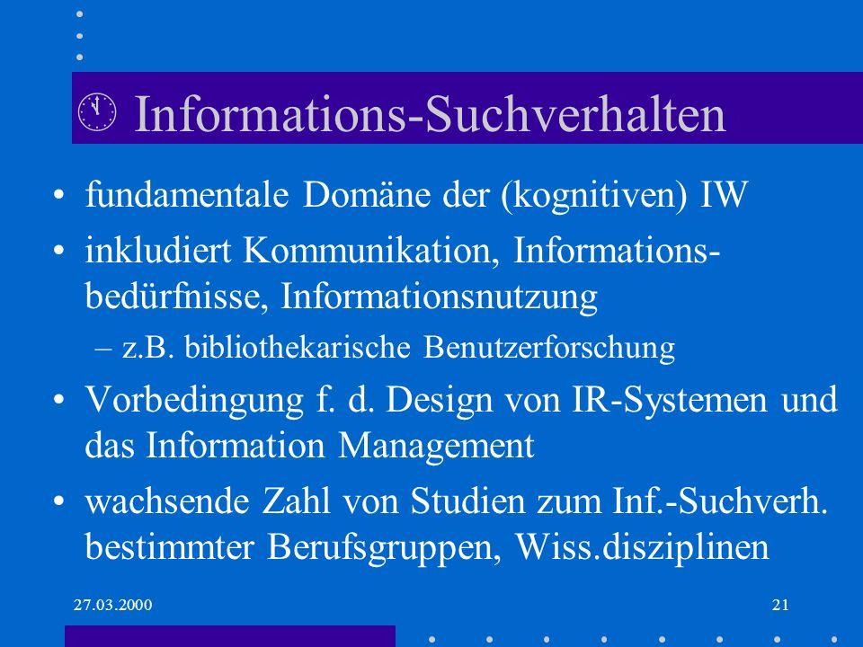  Informations-Suchverhalten
