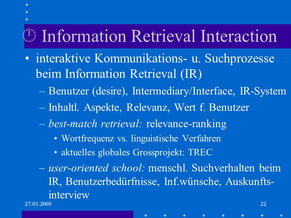  Information Retrieval Interaction