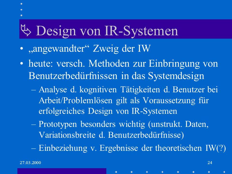  Design von IR-Systemen