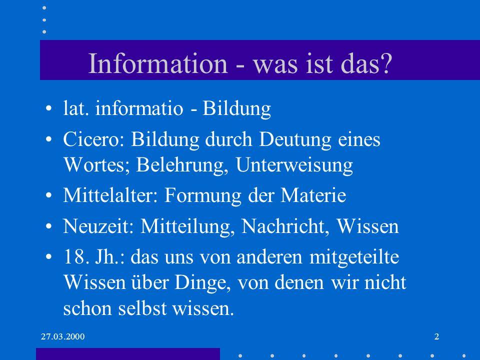Information - was ist das