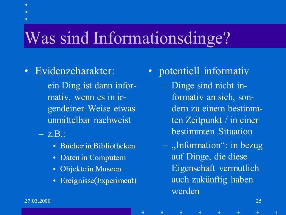 Was sind Informationsdinge