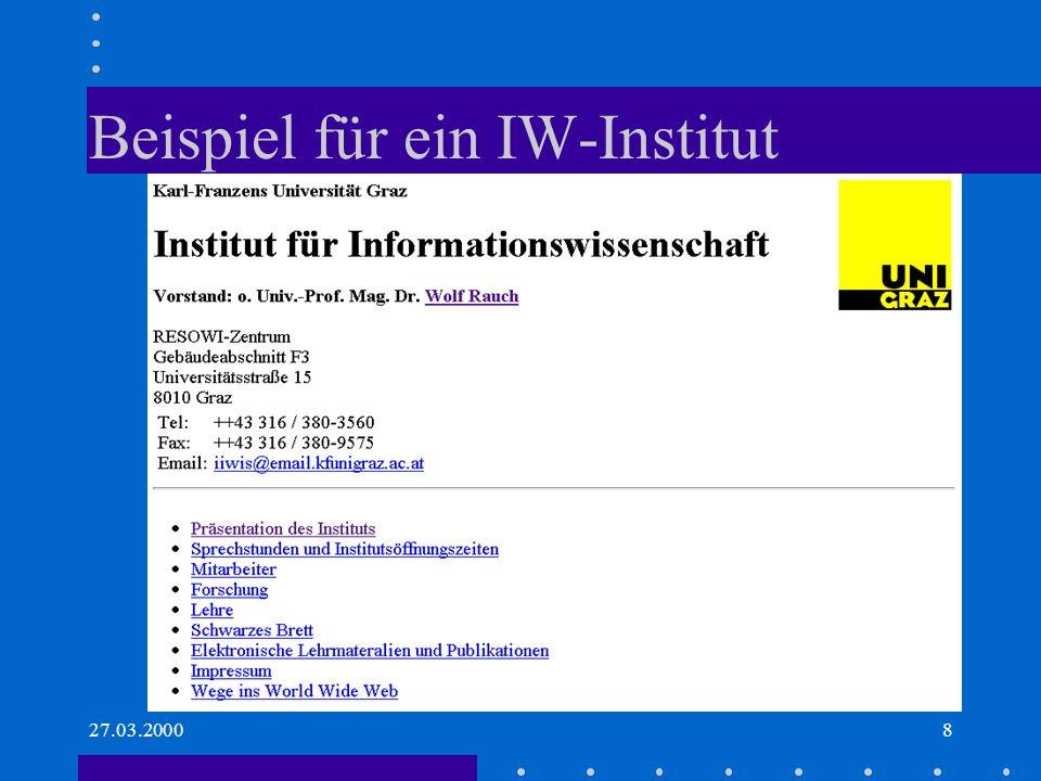Beispiel für ein IW-Institut