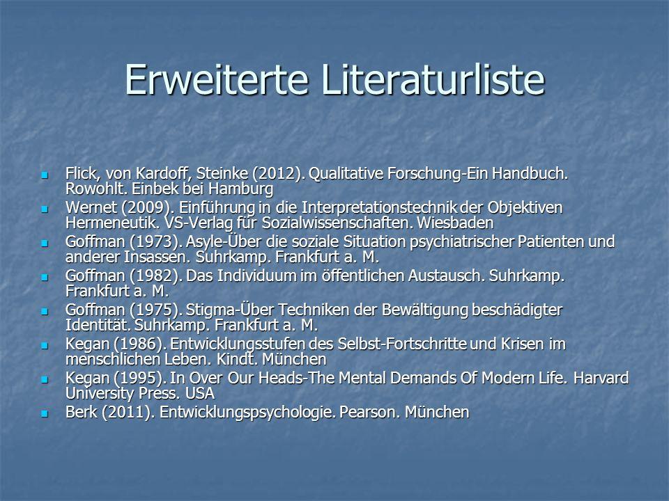 Erweiterte Literaturliste