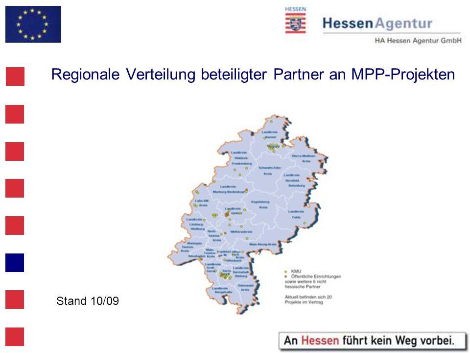 Regionale Verteilung beteiligter Partner an MPP-Projekten