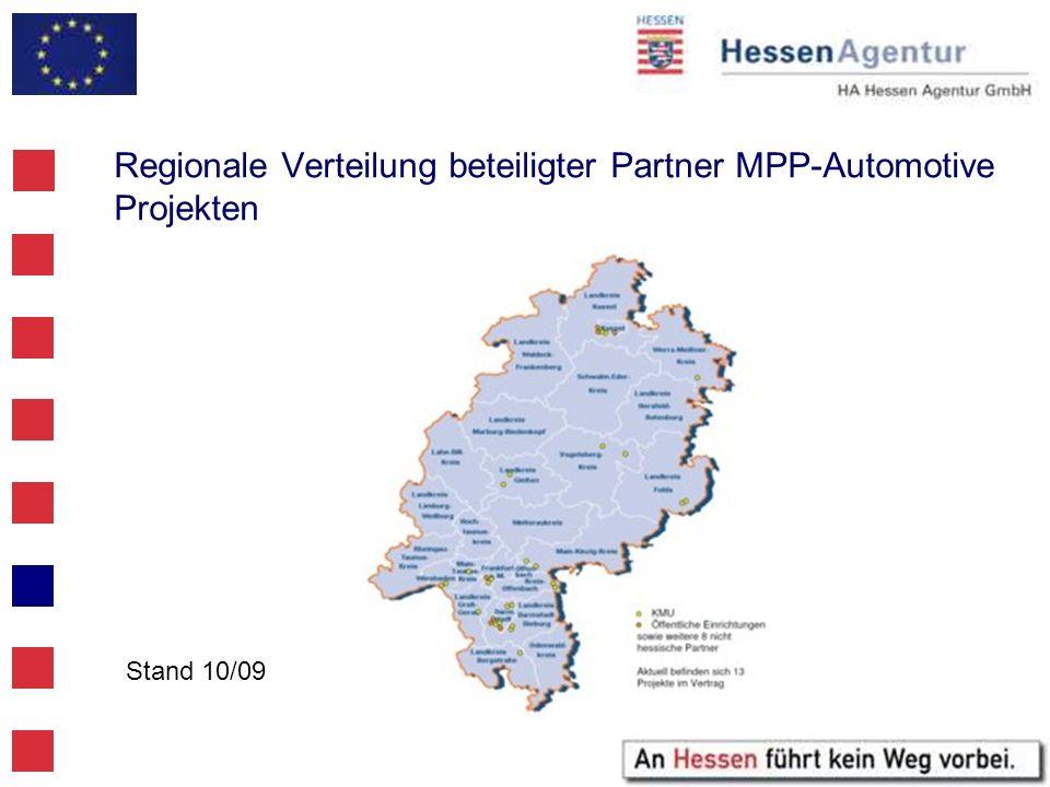 Regionale Verteilung beteiligter Partner MPP-Automotive Projekten