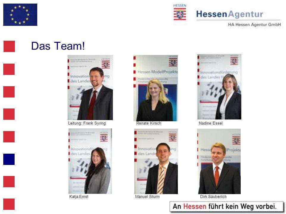 Das Team! Leitung: Frank Syring Renate Kirsch Nadine Essel