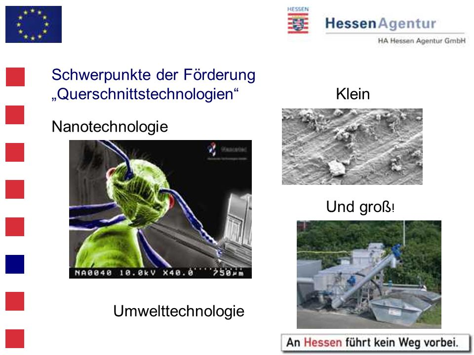 """Schwerpunkte der Förderung """"Querschnittstechnologien Klein"""