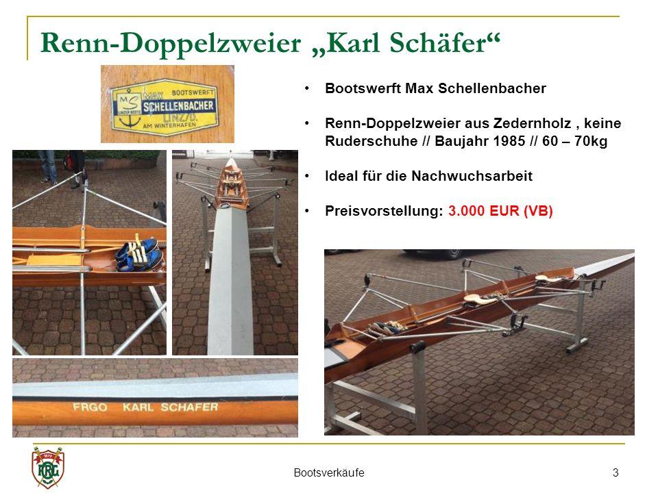 """Renn-Doppelzweier """"Karl Schäfer"""