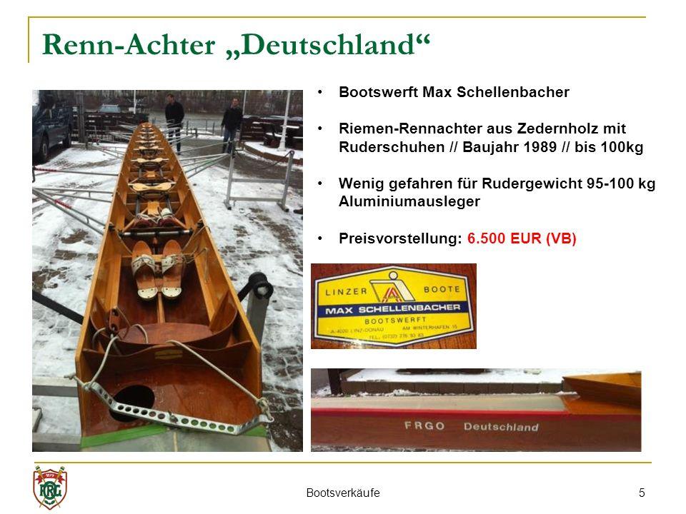 """Renn-Achter """"Deutschland"""