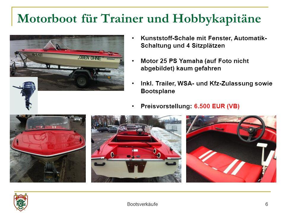 Motorboot für Trainer und Hobbykapitäne