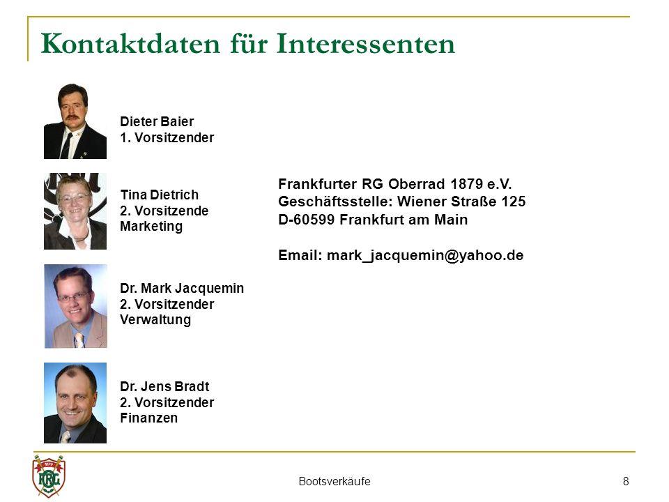 Kontaktdaten für Interessenten