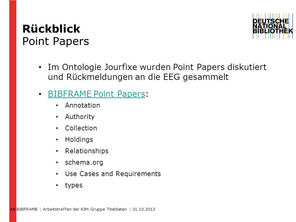 Rückblick Point Papers