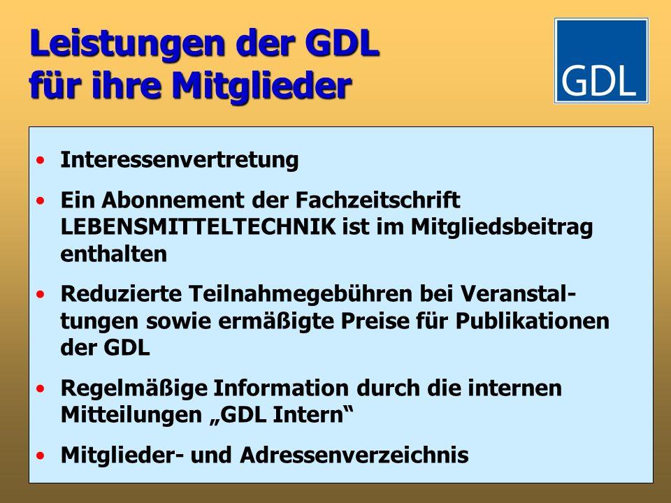 Leistungen der GDL für ihre Mitglieder