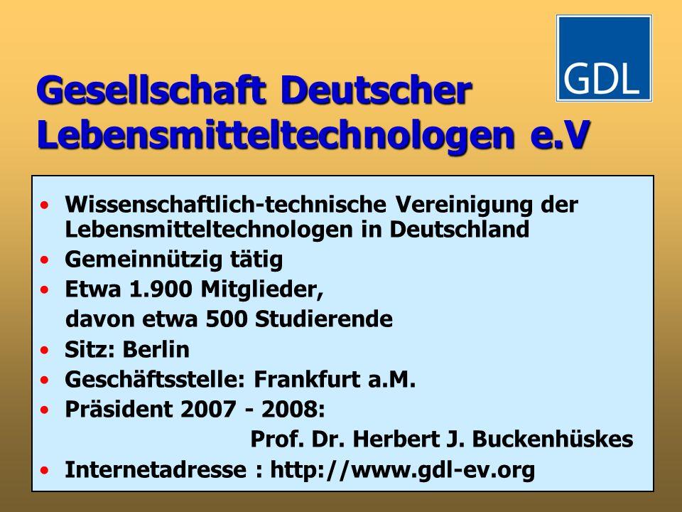 Gesellschaft Deutscher Lebensmitteltechnologen e.V