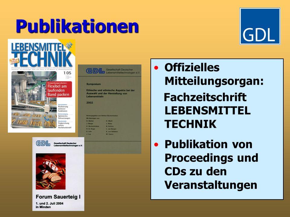 Publikationen Offizielles Mitteilungsorgan: