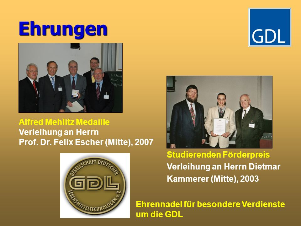 Ehrungen Alfred Mehlitz Medaille Verleihung an Herrn