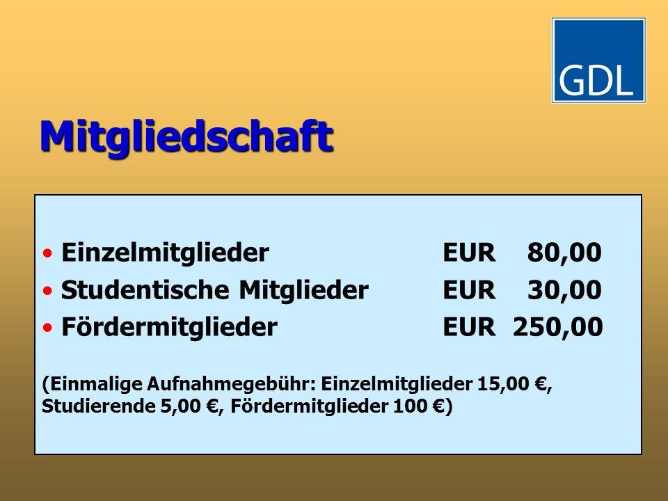 Mitgliedschaft Einzelmitglieder EUR 80,00