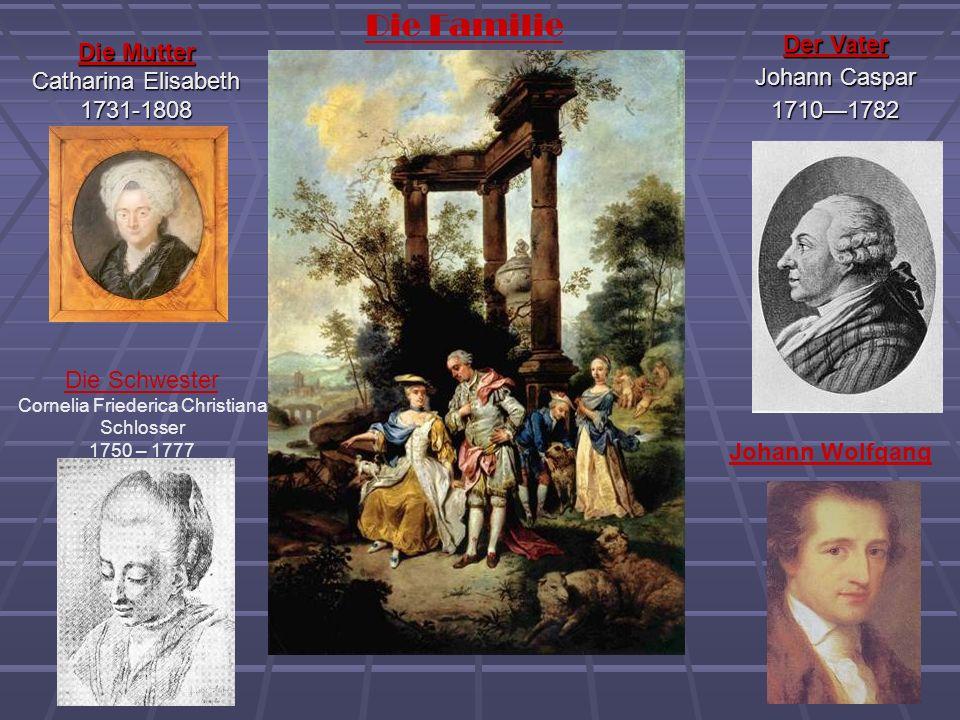 Die Familie Die Mutter Catharina Elisabeth 1731-1808 Der Vater