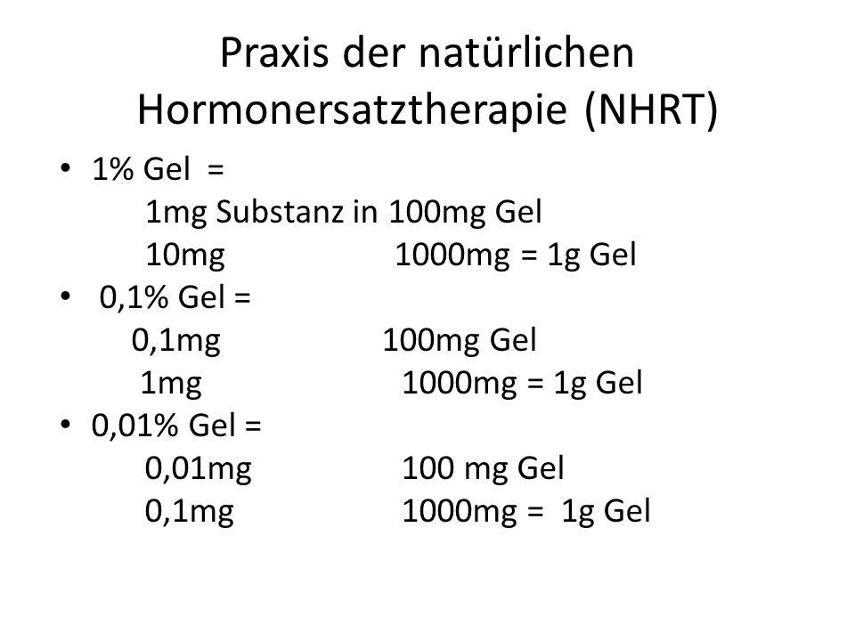 Praxis der natürlichen Hormonersatztherapie (NHRT)