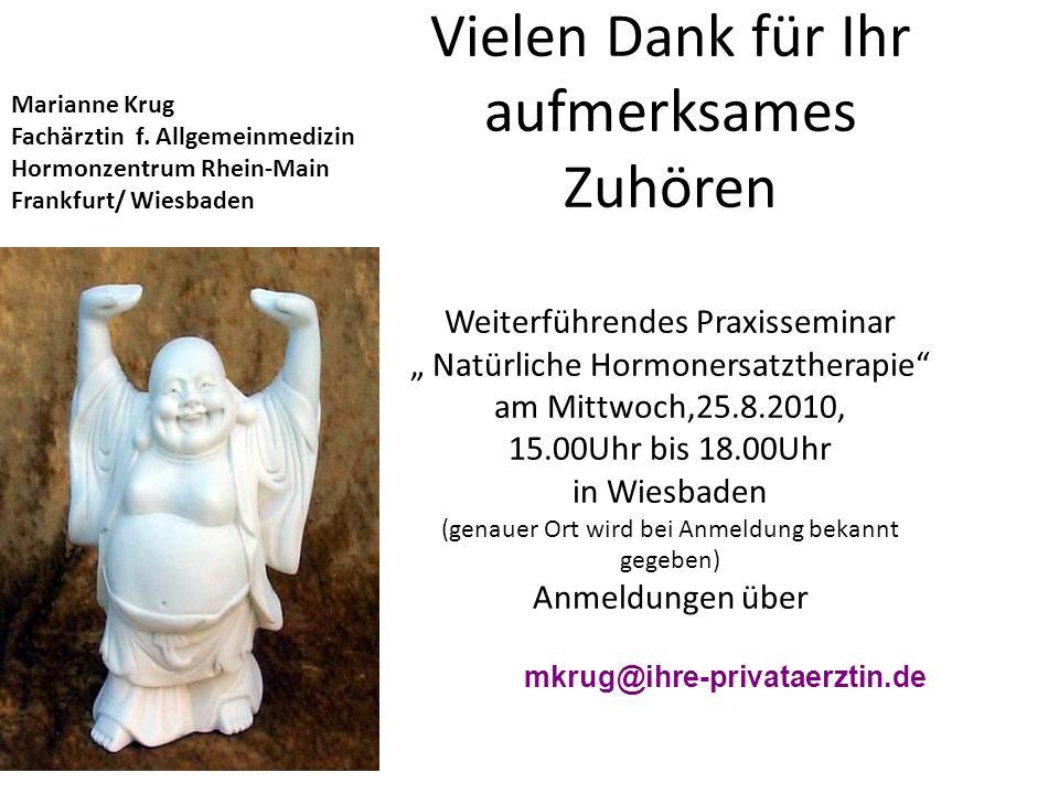 Marianne Krug Fachärztin f. Allgemeinmedizin. Hormonzentrum Rhein-Main. Frankfurt/ Wiesbaden.