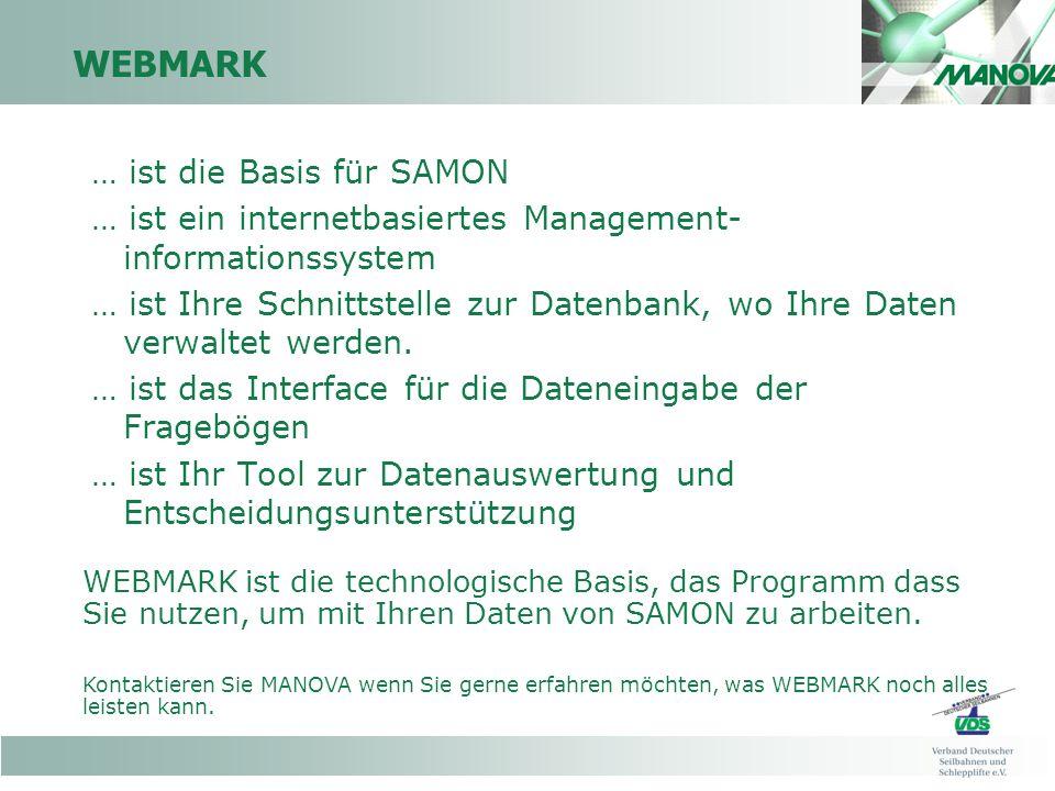 WEBMARK … ist die Basis für SAMON