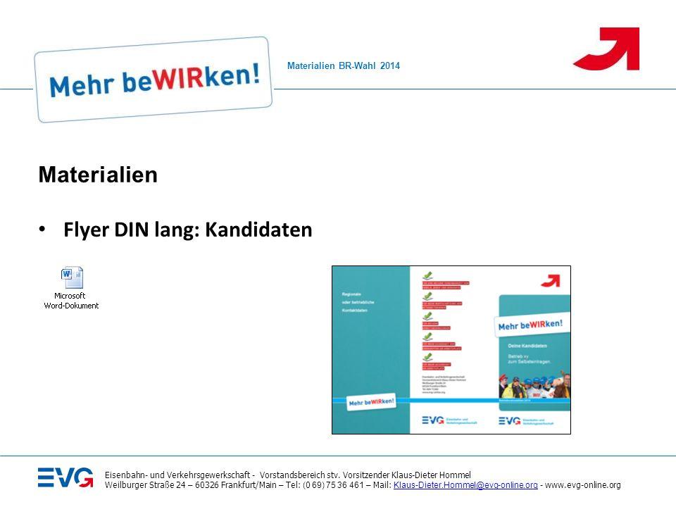 Flyer DIN lang: Kandidaten