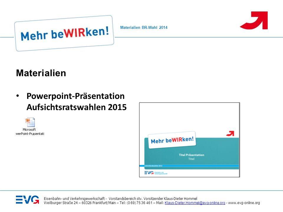 Powerpoint-Präsentation Aufsichtsratswahlen 2015