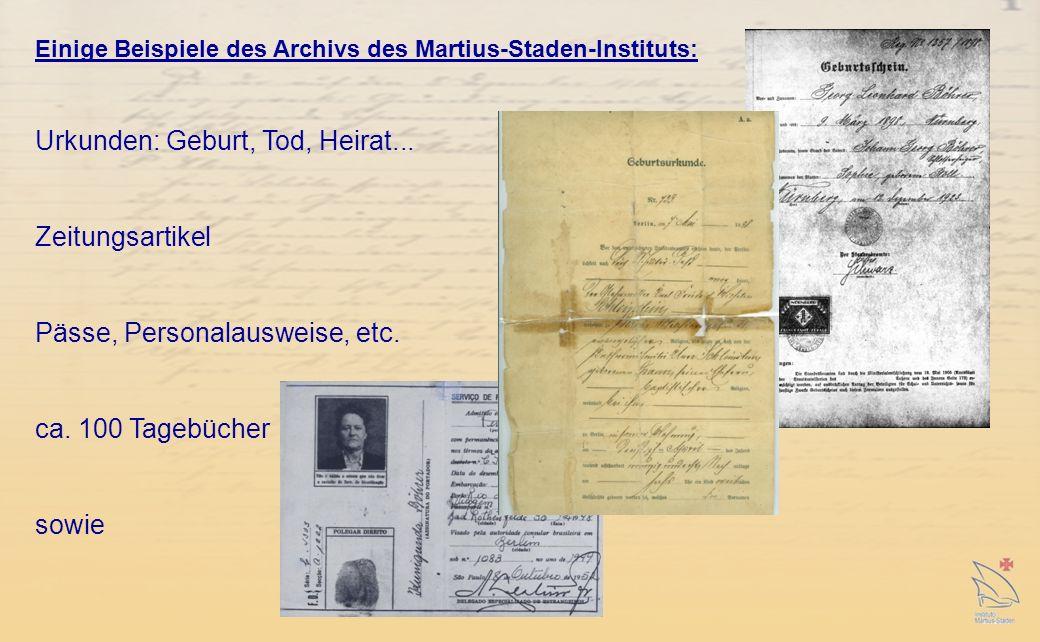 Urkunden: Geburt, Tod, Heirat...