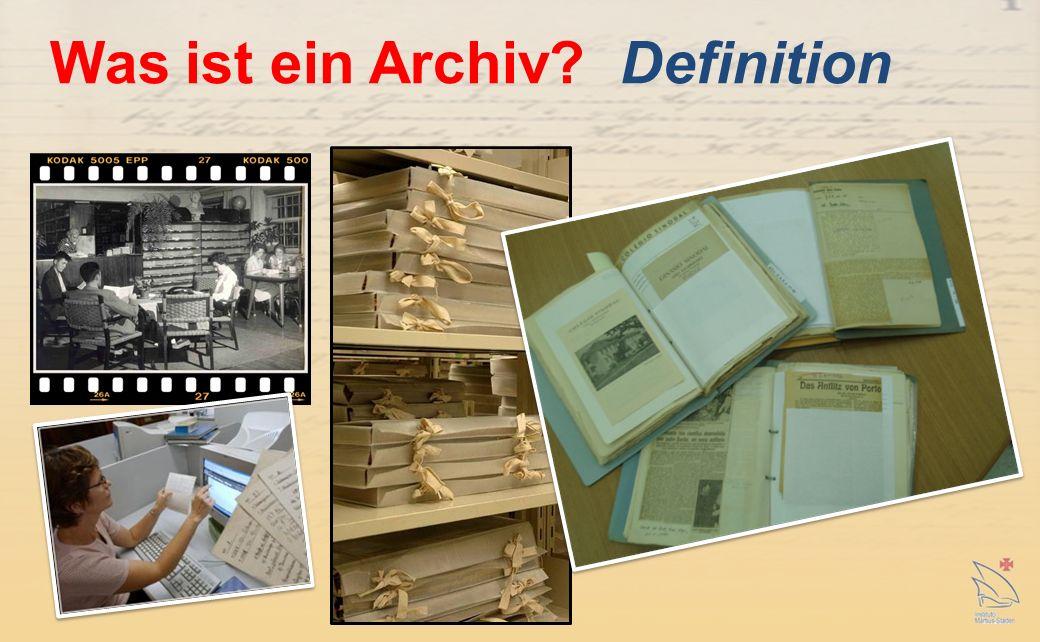 Was ist ein Archiv Definition