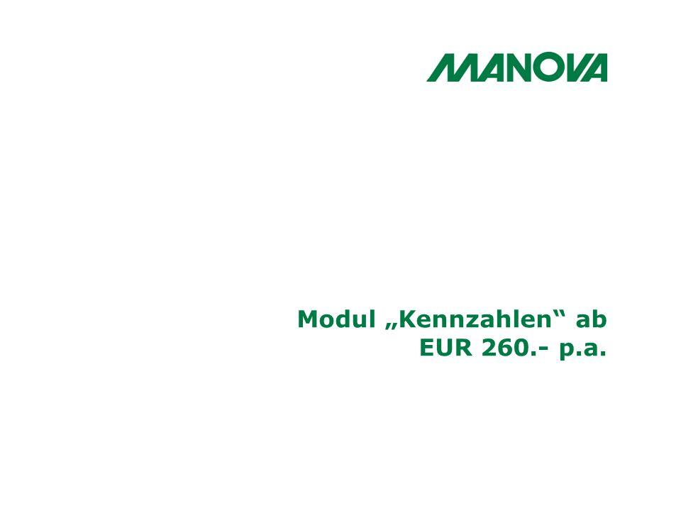 """Modul """"Kennzahlen ab EUR 260.- p.a."""