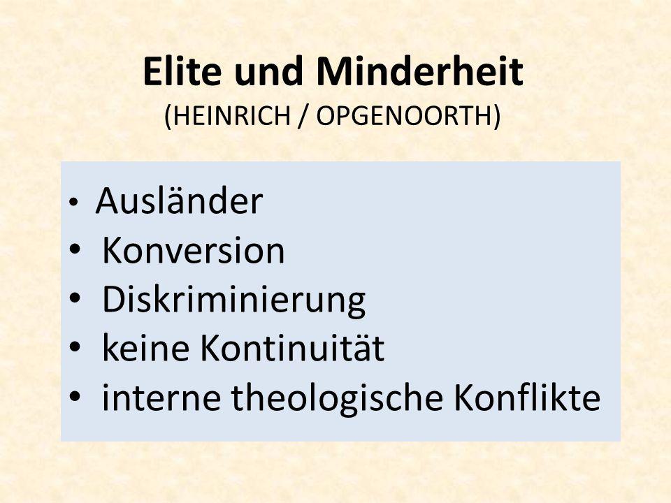 Elite und Minderheit (HEINRICH / OPGENOORTH)