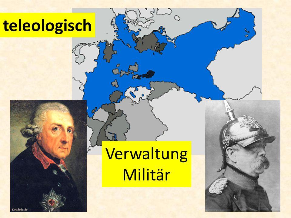 teleologisch Verwaltung Militär