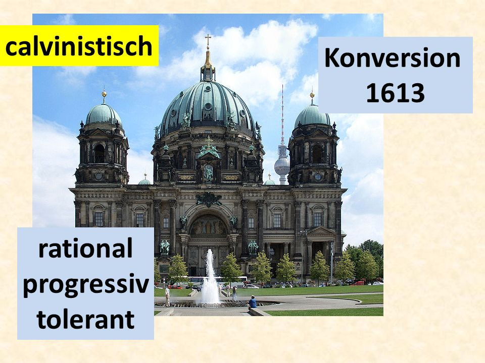 calvinistisch Konversion 1613 rational progressiv tolerant