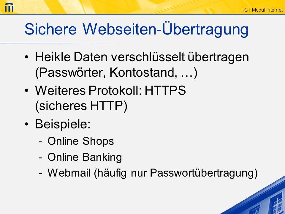 Sichere Webseiten-Übertragung