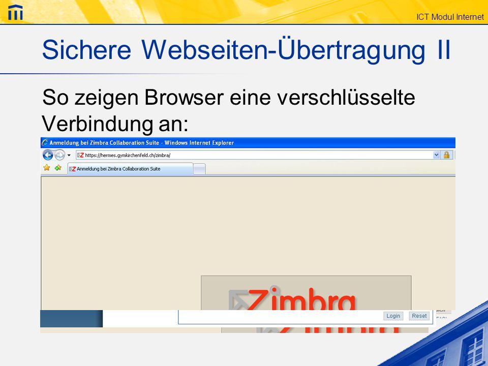 Sichere Webseiten-Übertragung II