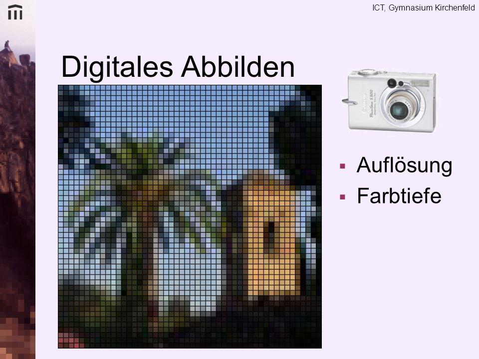 Digitales Abbilden Auflösung Farbtiefe Dimension: