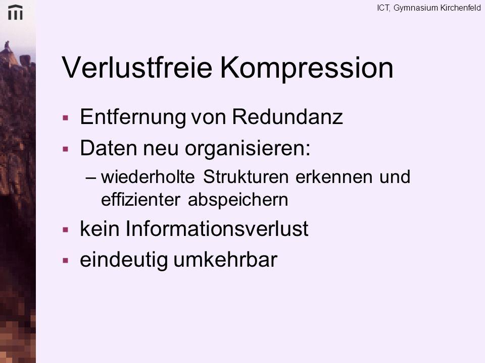 Verlustfreie Kompression