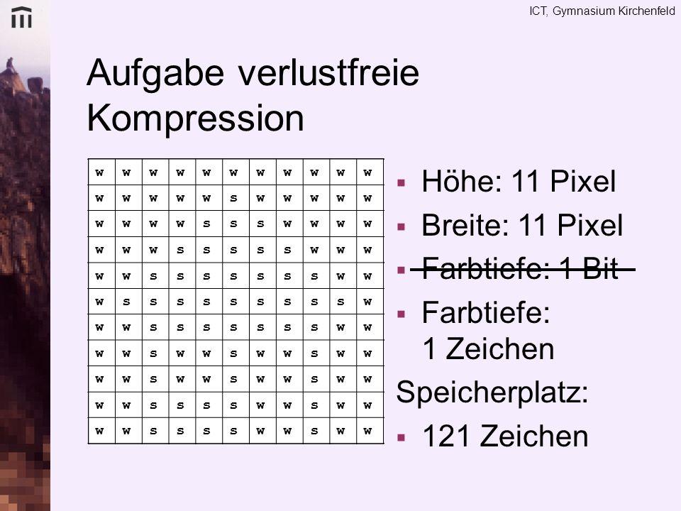 Aufgabe verlustfreie Kompression
