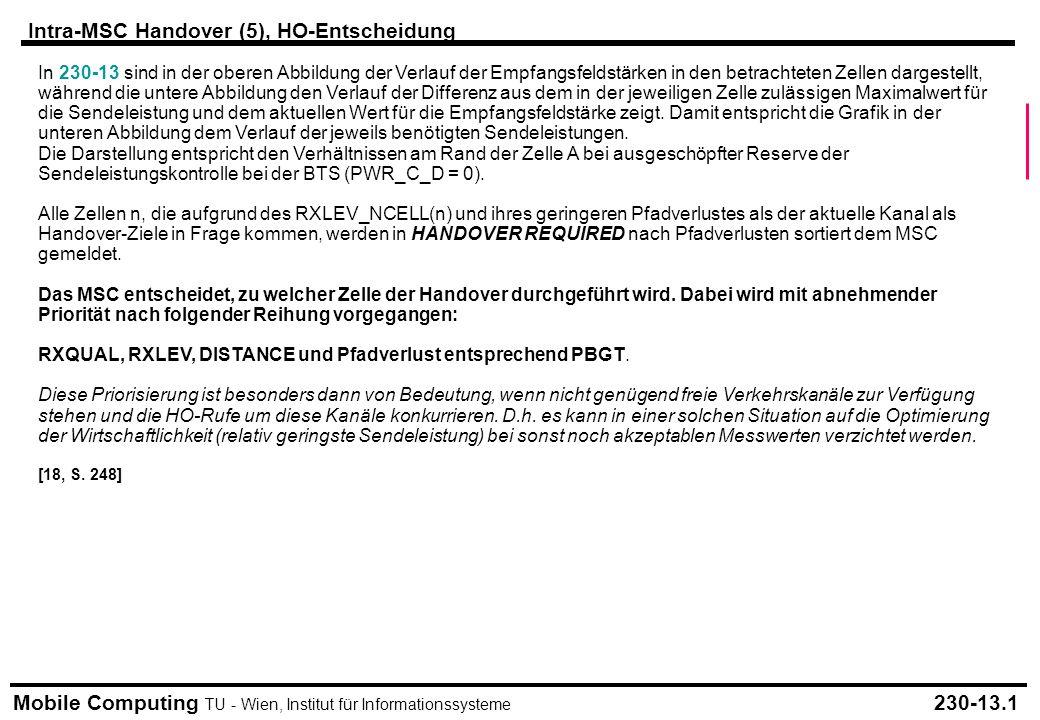 Intra-MSC Handover (5), HO-Entscheidung