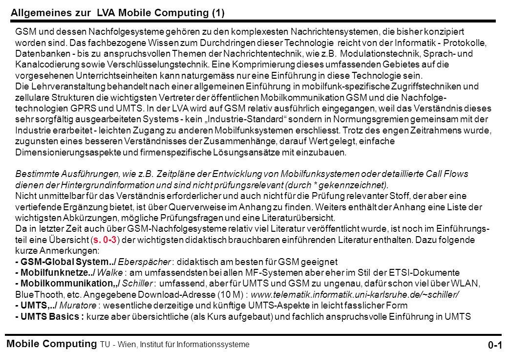 Allgemeines zur LVA Mobile Computing (1)