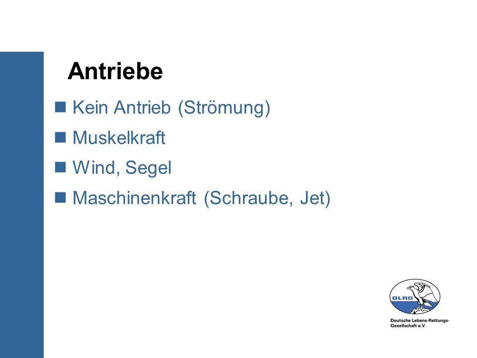 Antriebe Kein Antrieb (Strömung) Muskelkraft Wind, Segel