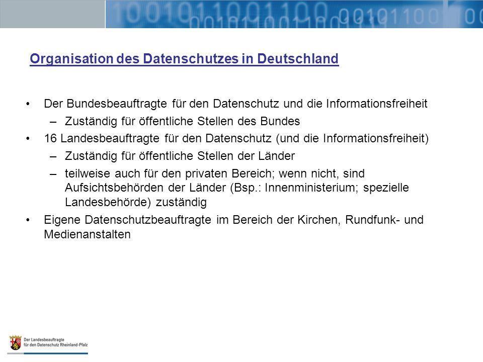Organisation des Datenschutzes in Deutschland