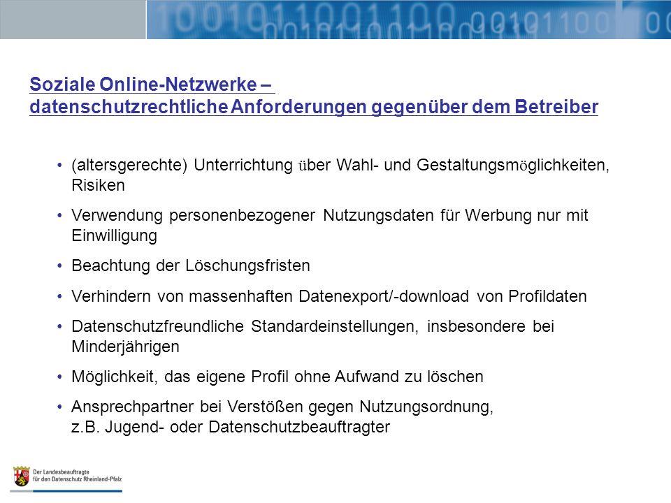 Soziale Online-Netzwerke –