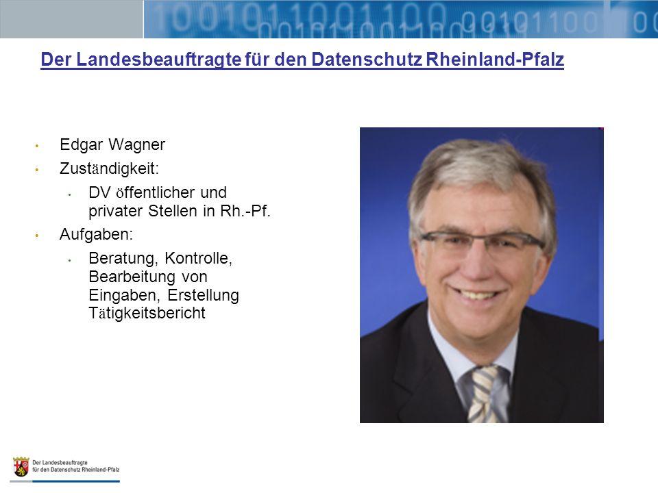 Der Landesbeauftragte für den Datenschutz Rheinland-Pfalz