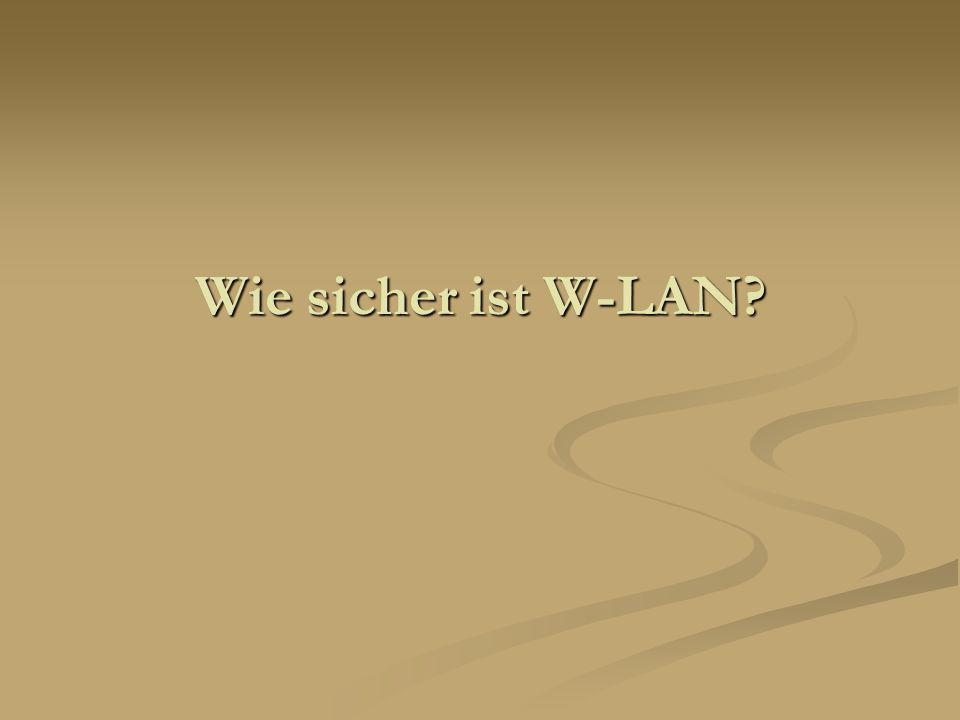Wie sicher ist W-LAN