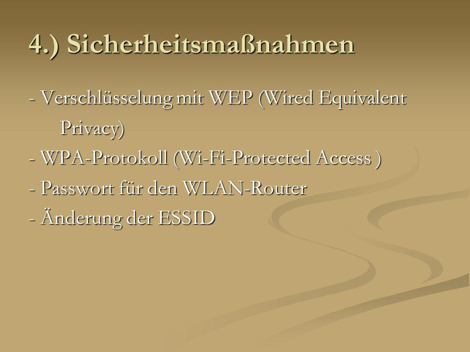 4.) Sicherheitsmaßnahmen