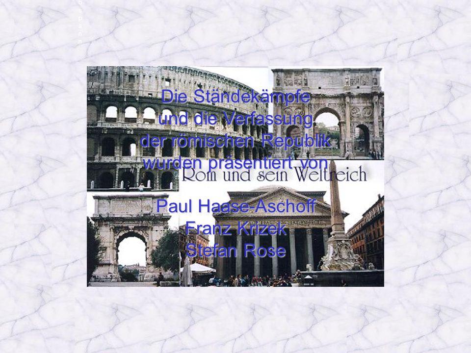 der römischen Republik wurden präsentiert von Paul Haase-Aschoff