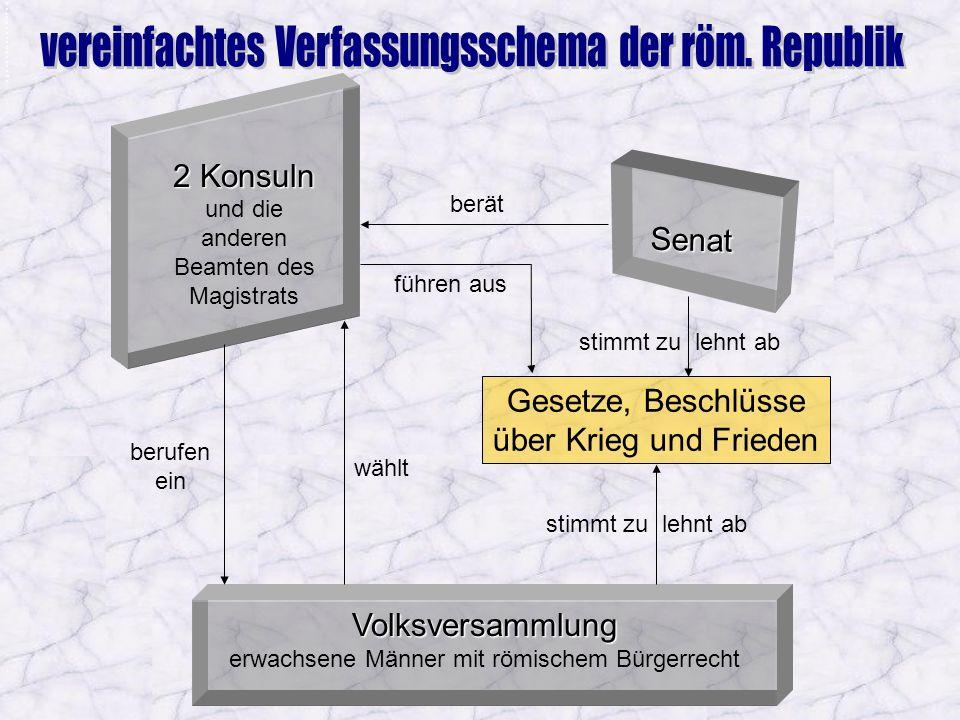 Vereinfachtes Verfassungsschema
