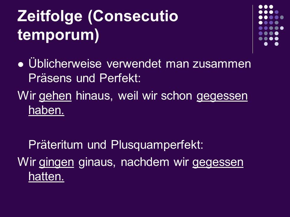 Zeitfolge (Consecutio temporum)